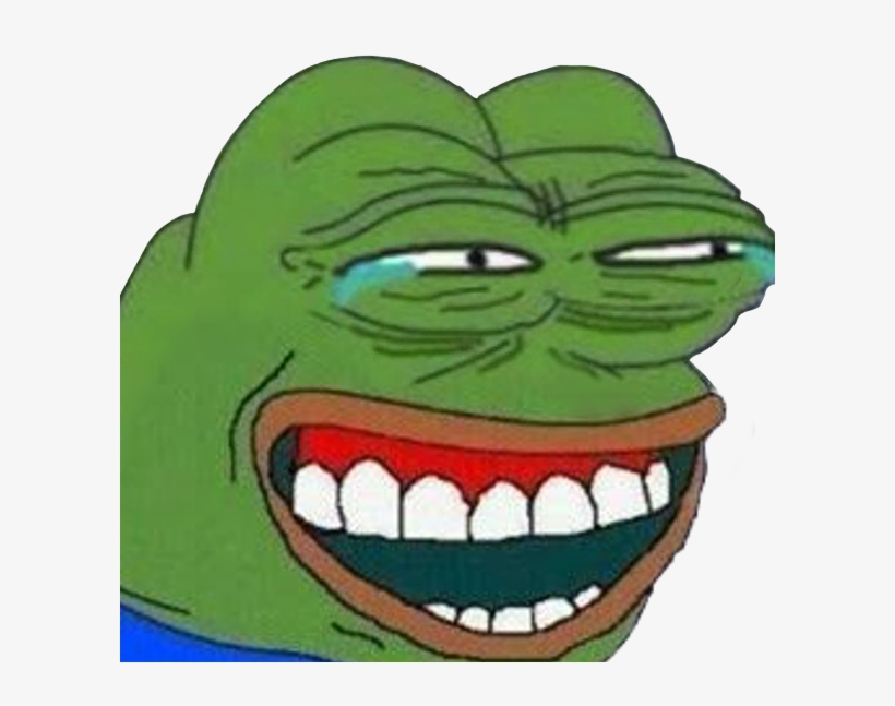 Transparent Pepe Laugh - Hysterical Pepe - Free Transparent PNG