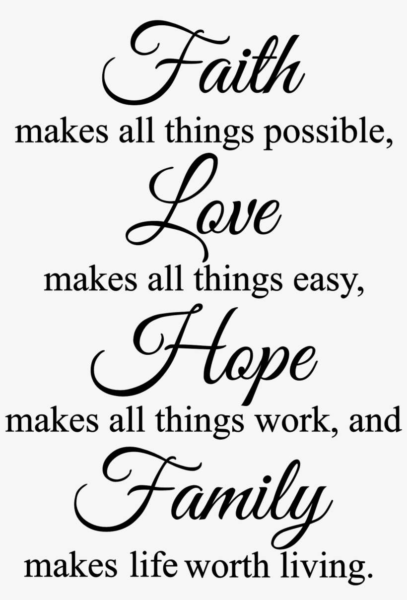 Faith Makes All Things Possible Wall Decal Religious - It's Ok To Climb Out Of Your Family Tree, transparent png #765711