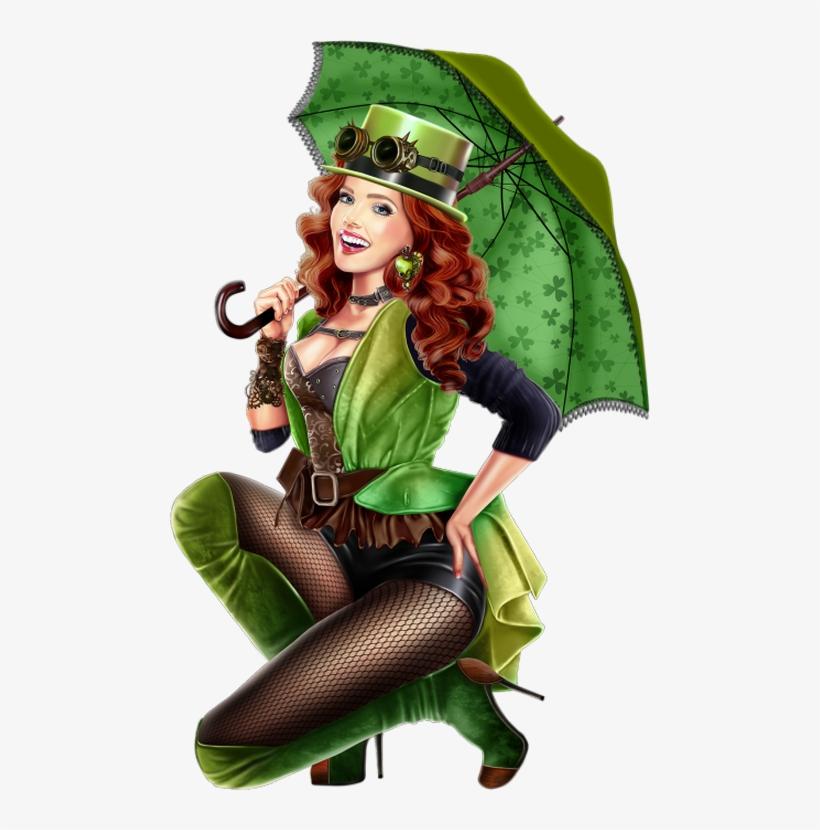 Paint Shop, Leprechaun, St Patrick, Santos, Clovers, - Femme Hiver Tube Png Femme En Vert, transparent png #765923