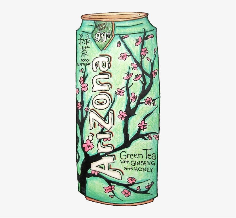 Drawn Nutella Arizona Tea - Arizona Green Tea Drawing, transparent png #765945