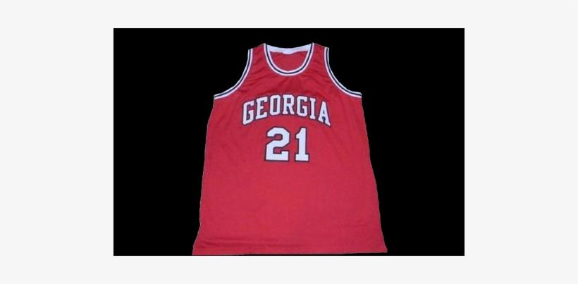 #21 Dominique Wilkins Georgia Bulldogs Basketball Jersey - Dominique Wilkins 21 College Basketball Jersey, transparent png #766120