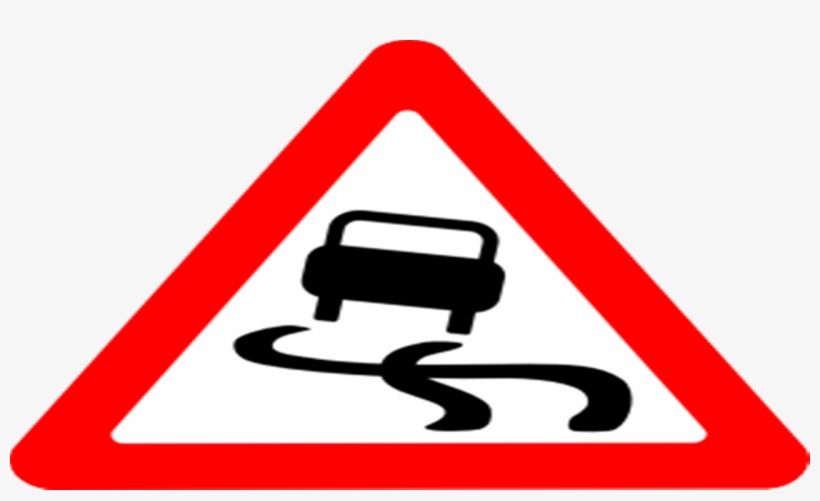 Traffic Sign Left Hand Curve, transparent png #766367