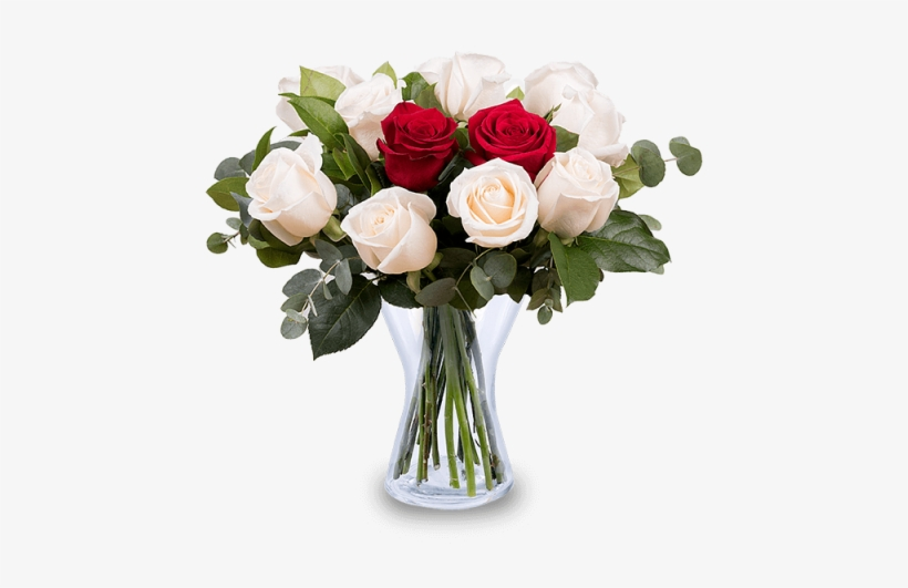 Bunch Of White And Red Rose Flowers Png Free Transparent
