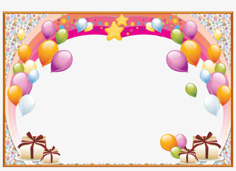 Birthday Png Frame Clipart Birthday Picture Frames - Happy Birthday Border Png, transparent png #768638