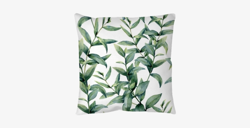Watercolor Realistic Eucalyptus Pattern - Eucalyptus Pattern, transparent png #769527