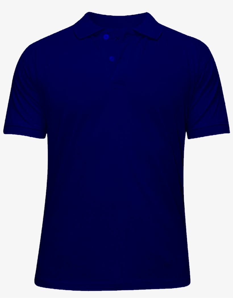 Navy Blue Polo Shirt Front And Back Template