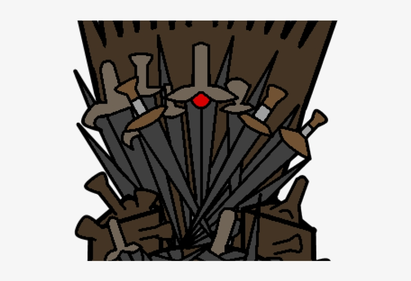 Game of thrones chair. Clipart iron throne illustration
