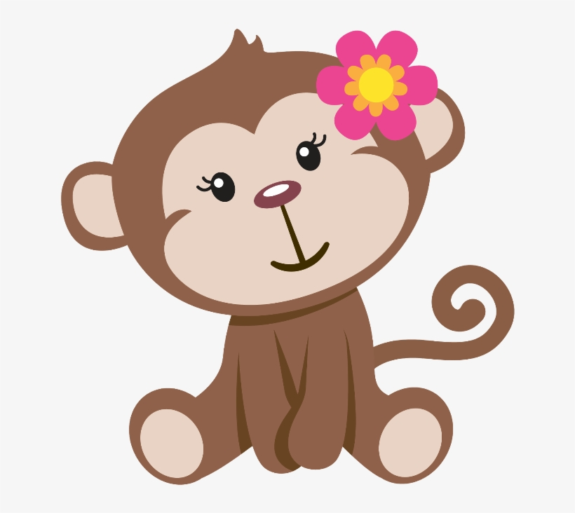 Mq Sticker - Baby Girl Monkey Clip Art, transparent png #7604493