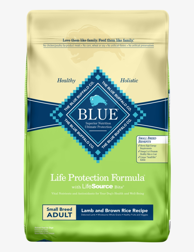 Blue Buffalo Life Protection Small Breed Adult Lamb - Blue Buffalo Chicken Rice Puppy, transparent png #7606992