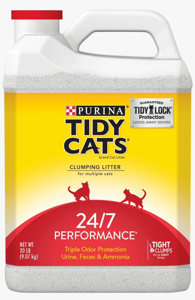Purina Tidy Cats 24/7 Performance Clumping Cat Litter, - Kitty Litter Tidy Cats, transparent png #7608973