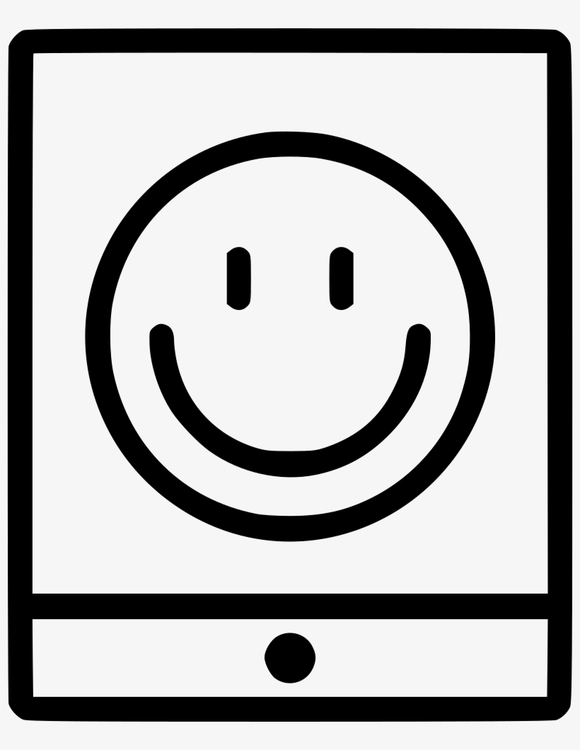 Tablet Portable Smiley Face Emoticon Comments - Smiley, transparent png #7610765