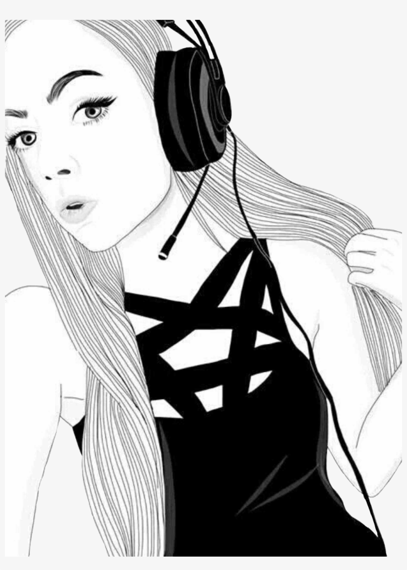 Report Abuse Gamer Tumblr Girl Drawing Free Transparent Png