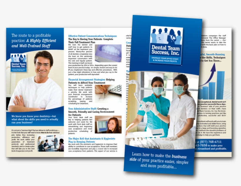 Brochure Design For Dental Team Success In Clearwater, - Products And Services Brochure, transparent png #7622836