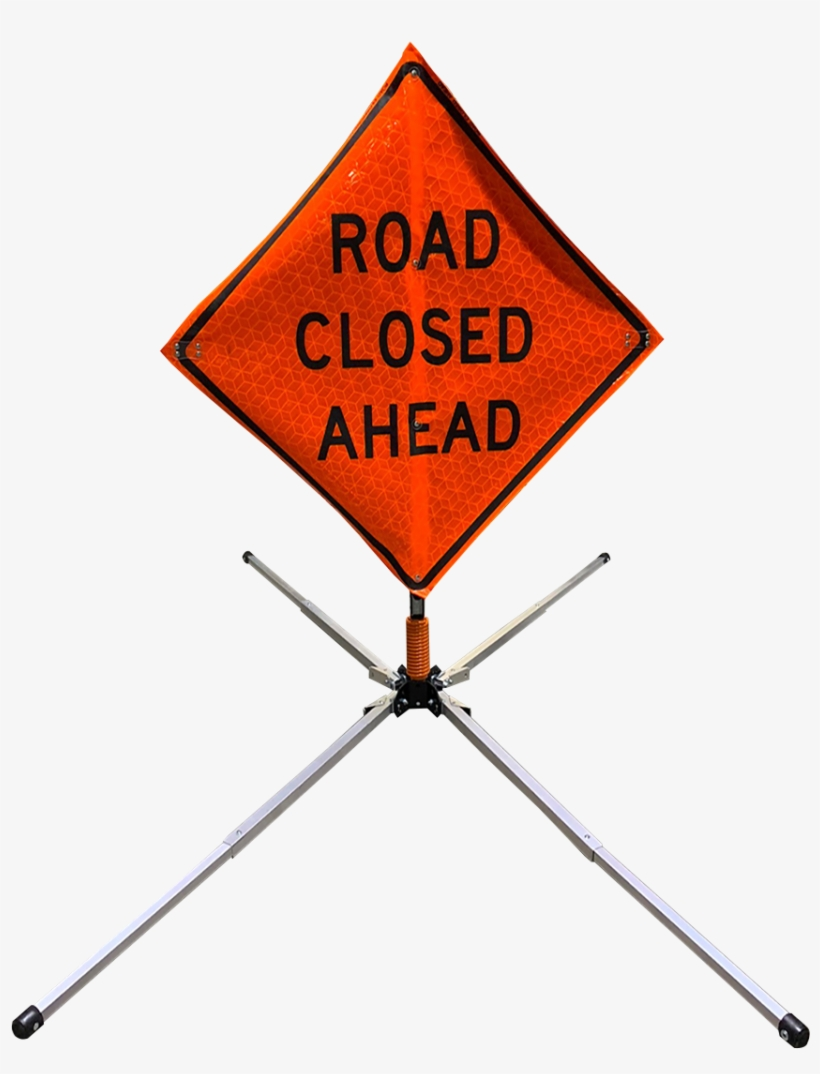Aluminum Compact Sign Stand W/ Coil Spring Mini-thumbnail - Road Closed Sign, transparent png #7623518