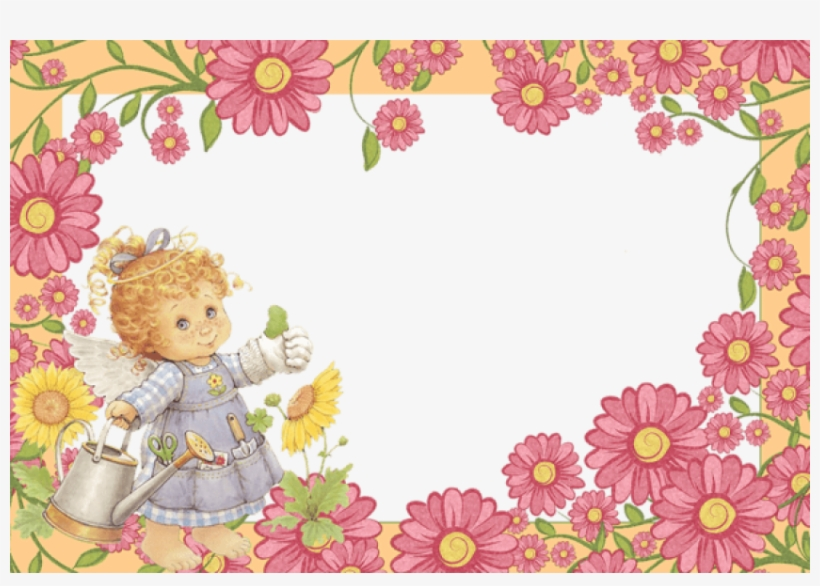 Free Png Best Stock Photos Cute Little Angel With Flowers - Cute Angel Frames Png, transparent png #7629756