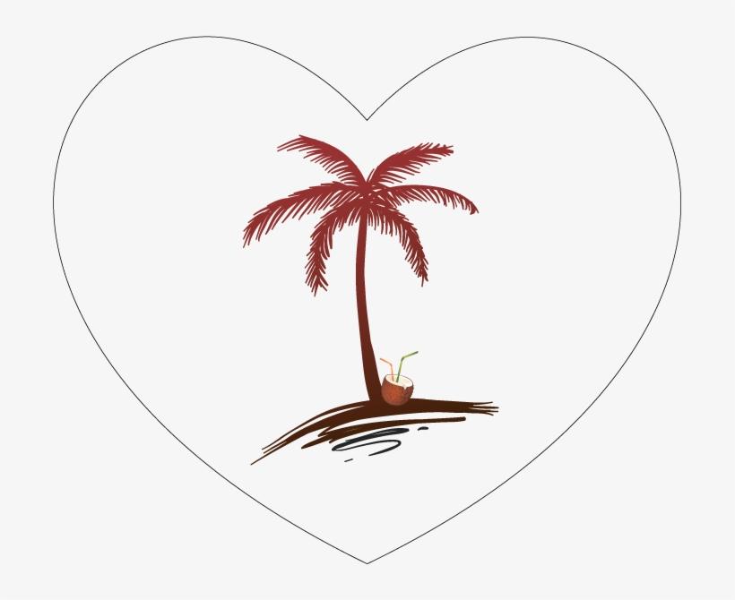 Koh Phangan - Palm Tree Beach Drawing, transparent png #7637004