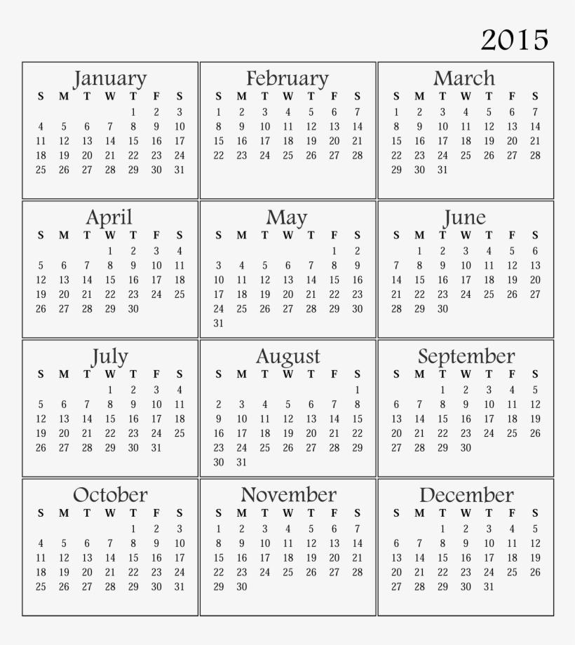 Printable Calendar 2015 Yangah Solen Blank Template - 2019 Printable Calendar One Page, transparent png #7637452