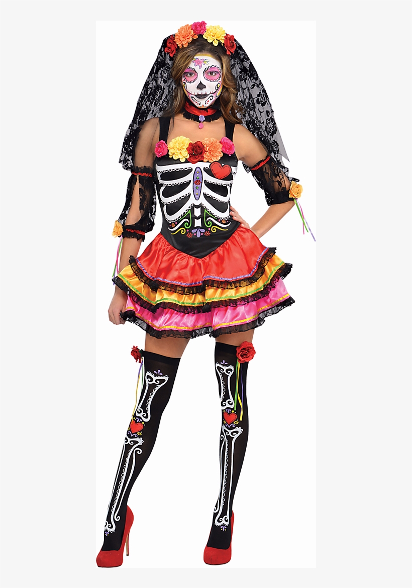 The Day Of The Dead Is A Mexican Holiday In Honor Of - Senorita Day Of The Dead Costume, transparent png #7638636