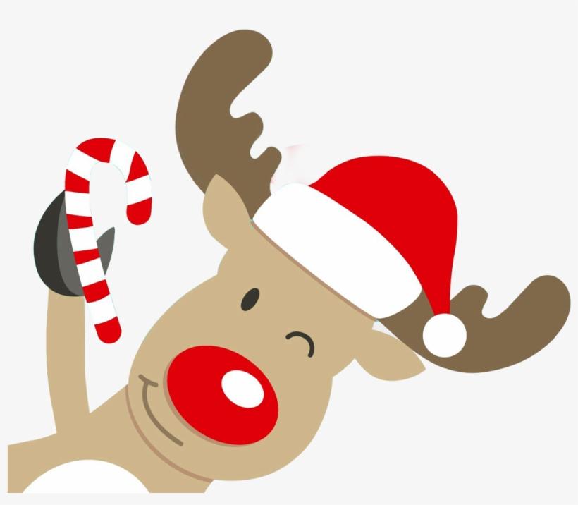 Cartoon Christmas Reindeer Png Free Transparent Png Download Pngkey