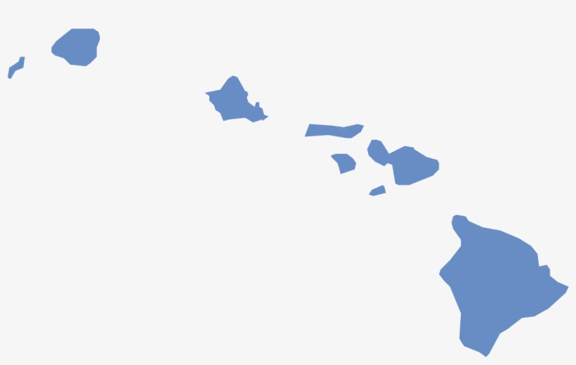 Hawaii Election Results By County, All Democratic - Hawaii Election Map 2016, transparent png #7640508