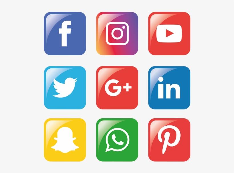 Social Media Icons Set - Png Whatsapp Facebook Instagram, transparent png #7651644