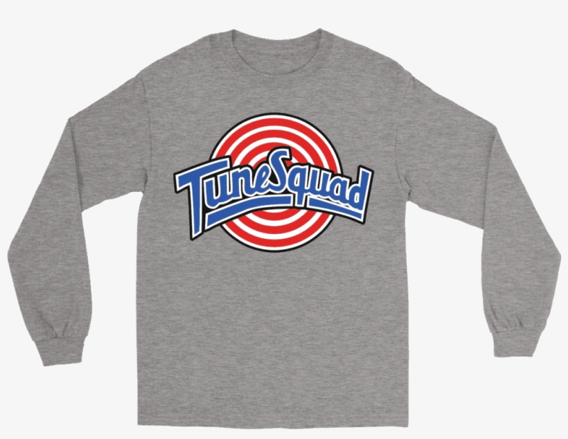 Gildan Long Sleeve Tee / Sports Grey / S Space Jam - Long-sleeved T-shirt, transparent png #7652903