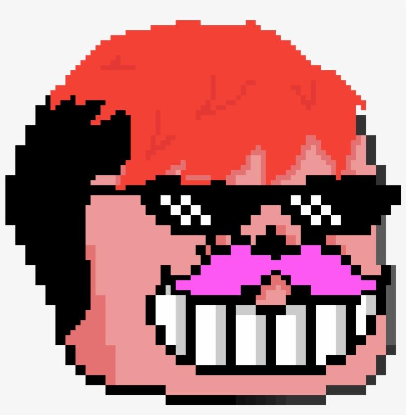 Markiplier - Anime Face Pixel Art, transparent png #7660421