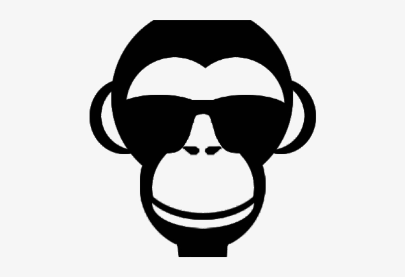 Picture Transparent Library Monkey Face Clipart Black - Monkey Face Png, transparent png #7664486
