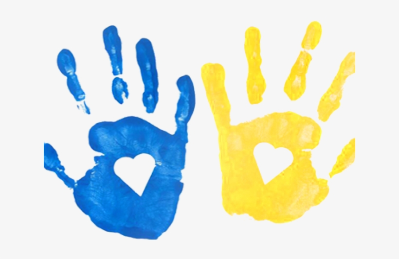 Handprint Clipart Transparent Background - Kids Hand ...