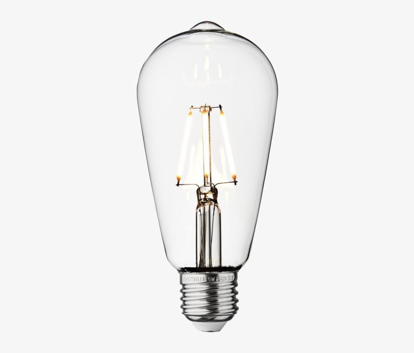 Vintage Led Edison Bulb Old Filament Lamp - Incandescent Light Bulb, transparent png #7679860