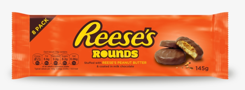 Reese%27s Rounds 8 Pack Visual 15 - Reese's Peanut Butter Cups, transparent png #7680349