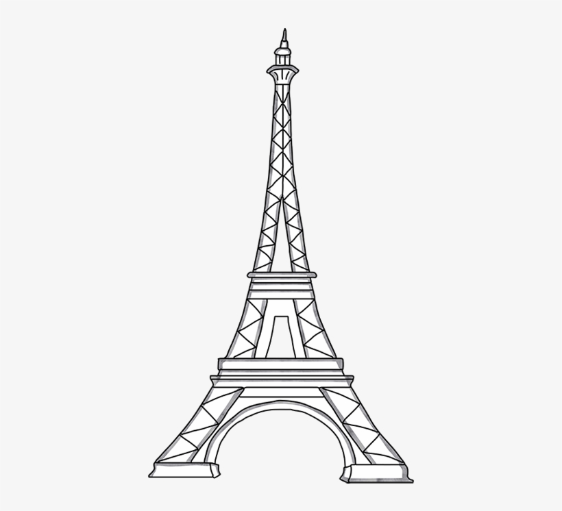 photo about Eiffel Tower Template Printable identify Eiffel Tower Template Slice Out 203144 - Steeple - No cost