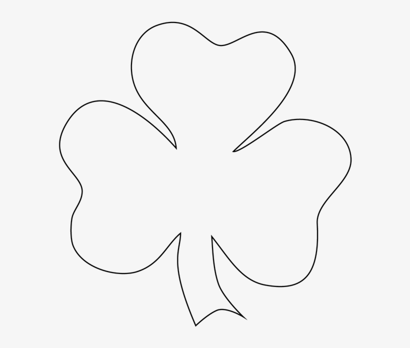 image relating to Printable Shamrock named Shamrock Template - Shamrock Template Printable - Absolutely free