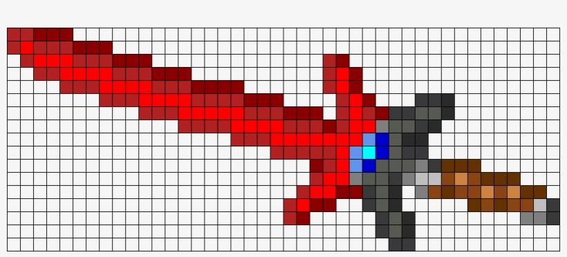 Starbound Star Cleaver Perler Bead Pattern / Bead Sprite - Easy Simple Pixel Art, transparent png #7691032