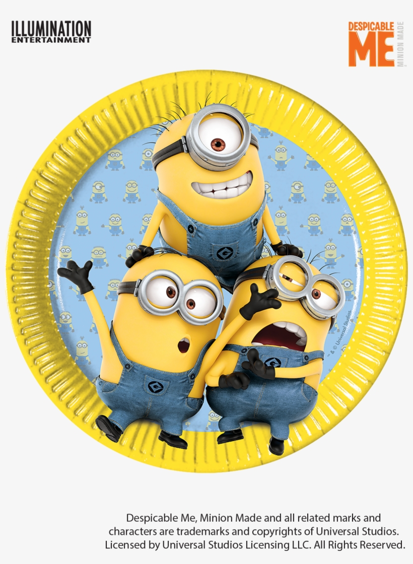 Minions Birthday Party Paper Plates Assiettes Minions Free