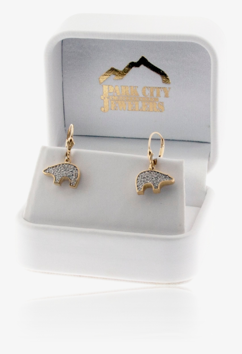 Bear Shaped Pave Diamond Earrings - Earrings, transparent png #7691310