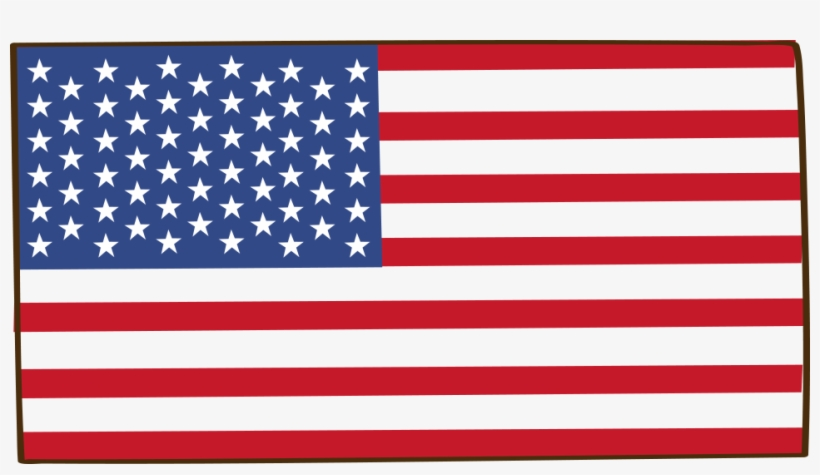 American Flag Cartoon - Night Vision American Flag, transparent png #7691457