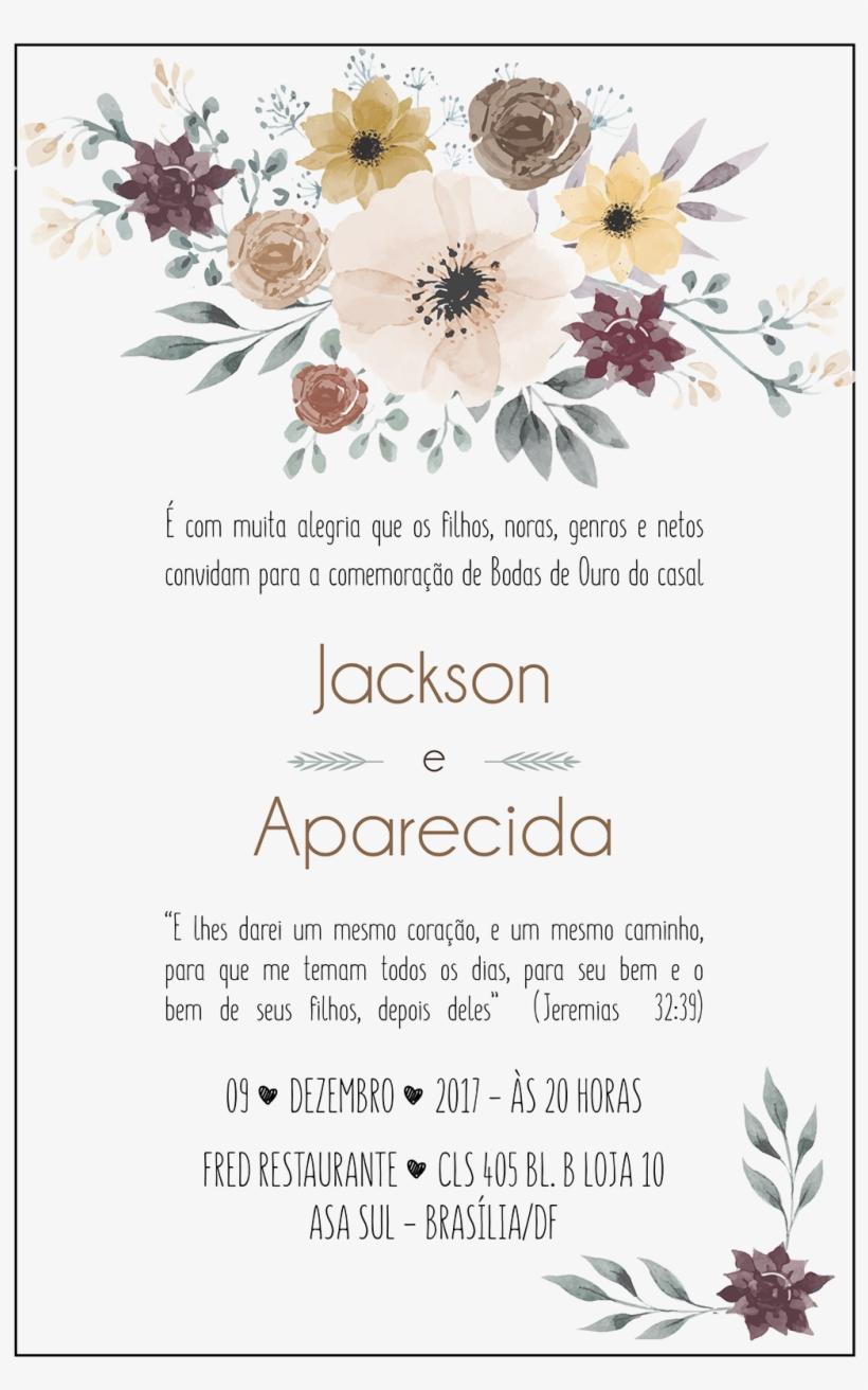 Clip Art Convites De Bodas De Ouro - Convite Bodas De Ouro, transparent png #7692433