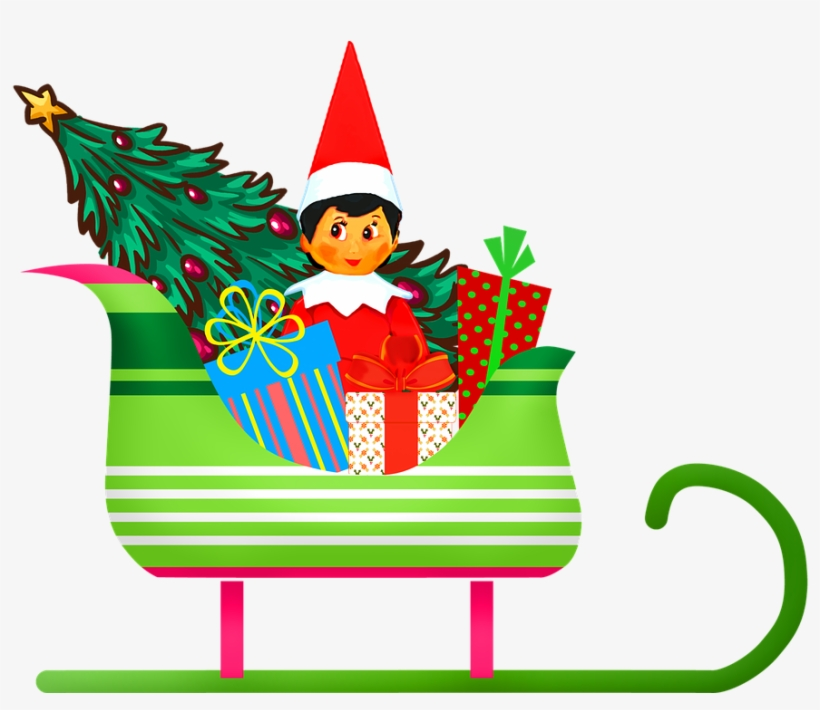 Sleigh Clipart Christmas Sleigh Ride - Sleigh Cartoon - Free Transparent  PNG Clipart Images Download