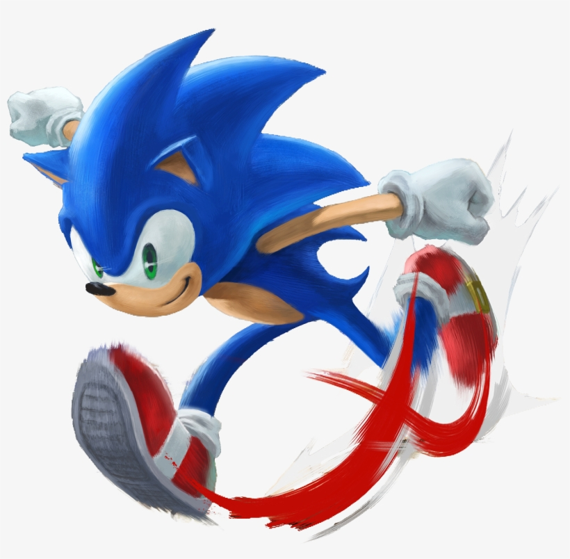 This Game But His Also My Childhood Hero And I Just - Super Smash Bros Ultimate Sonic, transparent png #7699999