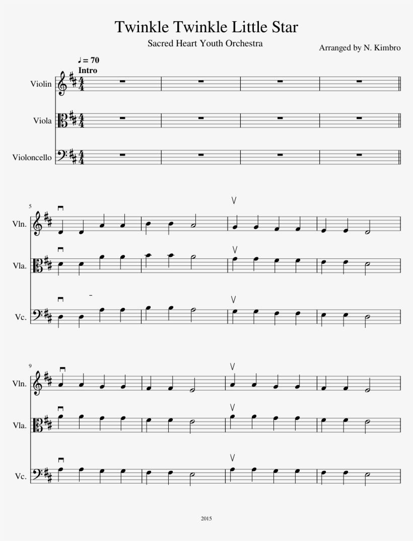 Twinkle Twinkle Little Star Sheet Music Composed By - Sheet Music, transparent png #770117