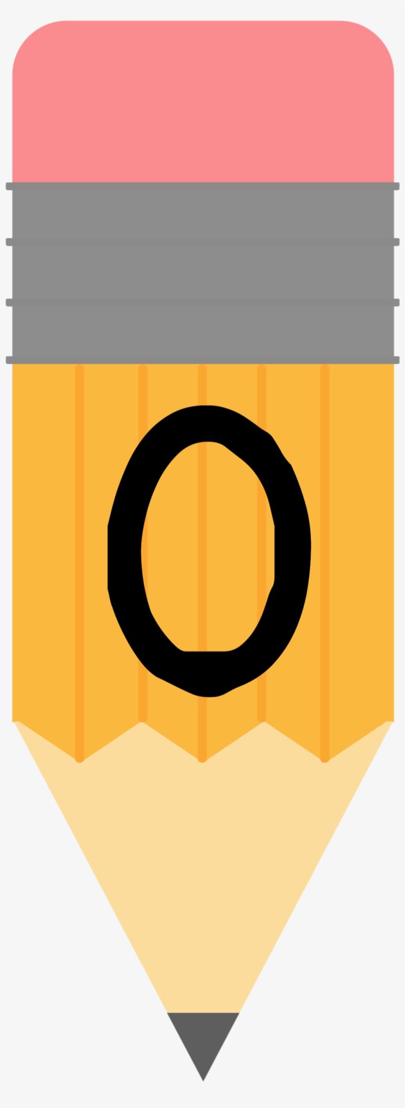 Pencil Alphabet Banner O 1,076×2,778 Pixeles - Pencil Banner Printable Banner School, transparent png #771097