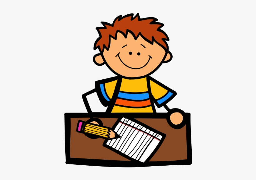 Daycare Clipart Write - Kid Writing Clipart, transparent png #771197