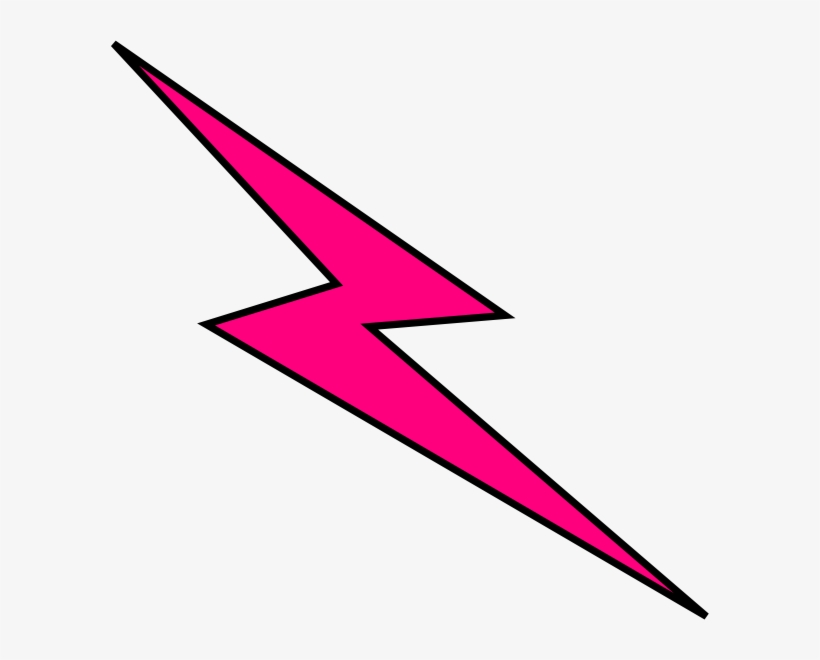 Pink Bolt Clip Art - Light Pink Lightning Bolt, transparent png #773020