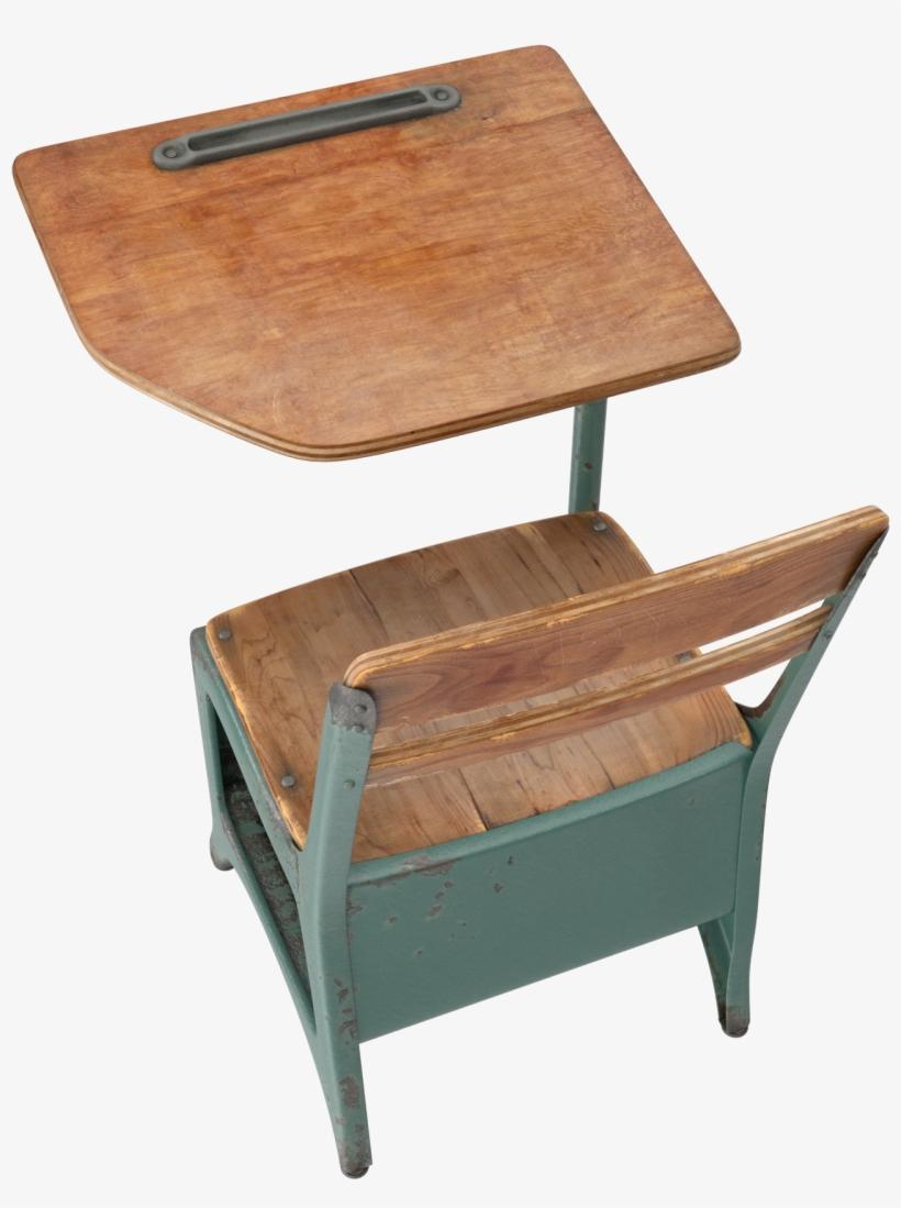 Antique School Desk Png Image - Desk, transparent png #773728