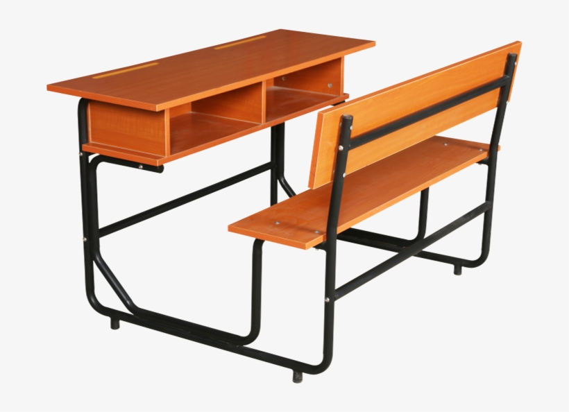2 Person Student Plastic School Desk And Chair - School, transparent png #773956