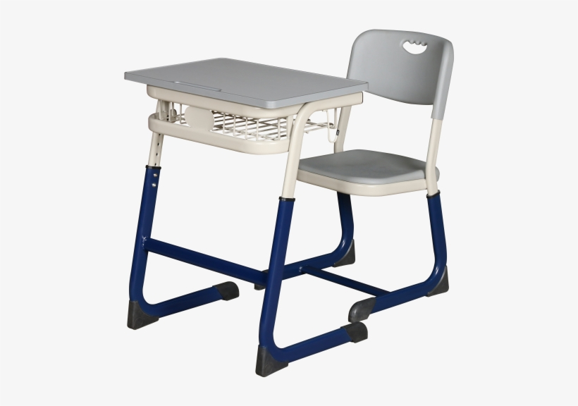 Single School Desk And Chair Student Desk Used Student - Writing Desk, transparent png #774287