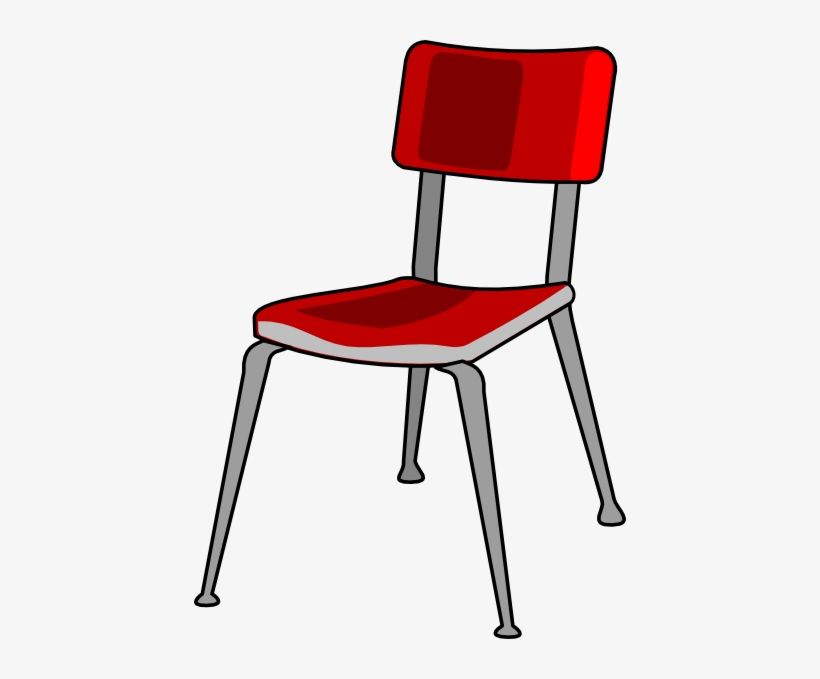 Red Student Desk Chair Clip Art - Chair Clipart Png, transparent png #774474