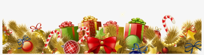 Beautiful Christmas Footer Gifts Balls Gold - Christmas Gifts Gold Png Transparent, transparent png #774634