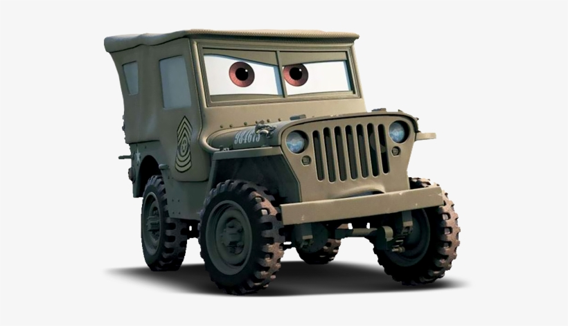 Sarge Cars - Cars (life Size Stand Up), transparent png #774957